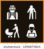set of 4 man filled icons such... | Shutterstock .eps vector #1096875824