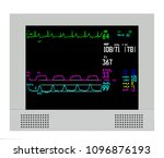 an anesthesia monitor shows... | Shutterstock .eps vector #1096876193