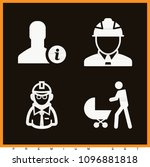 set of 4 man filled icons such... | Shutterstock .eps vector #1096881818