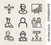 set of 9 man outline icons such ... | Shutterstock .eps vector #1096886999