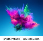 explosion of pink and green... | Shutterstock . vector #1096889306