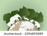 world wildlife day   concept... | Shutterstock .eps vector #1096893089