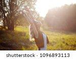 cute charming girl in summer in ...   Shutterstock . vector #1096893113