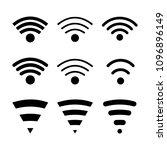set of modern wireless...