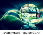 television and internet... | Shutterstock . vector #1096897670