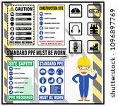 set of site safety mandatory... | Shutterstock .eps vector #1096897769