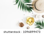 summer composition. tropical... | Shutterstock . vector #1096899473