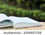 book with open empty white... | Shutterstock . vector #1096907258