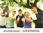 active senior friends... | Shutterstock . vector #1096908506