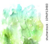watercolor floral background | Shutterstock . vector #1096913483