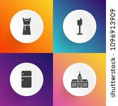 modern  simple vector icon set... | Shutterstock .eps vector #1096913909