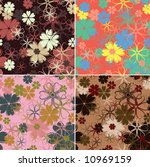 retro floral pattern  seamless  ...