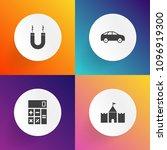 modern  simple vector icon set... | Shutterstock .eps vector #1096919300