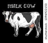 milk cow animal  on black... | Shutterstock .eps vector #1096922153