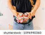 baby concept with shoe... | Shutterstock . vector #1096940360