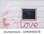 baby concept with shoe... | Shutterstock . vector #1096940378