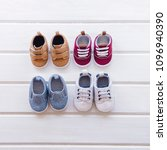 baby concept with shoe... | Shutterstock . vector #1096940390