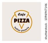logo for the italian pizza in... | Shutterstock .eps vector #1096947146