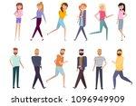set of active men and women... | Shutterstock .eps vector #1096949909