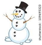 snowman | Shutterstock .eps vector #109695323