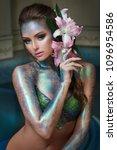 fashion beauty portrait of a... | Shutterstock . vector #1096954586