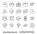 virtual reality gaming icons ... | Shutterstock .eps vector #1096955930