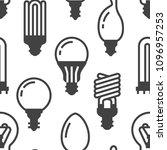 light bulbs seamless pattern... | Shutterstock .eps vector #1096957253