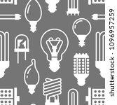 light bulbs seamless pattern... | Shutterstock .eps vector #1096957259