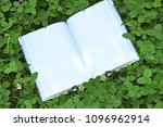 book with open empty white... | Shutterstock . vector #1096962914