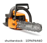 Rough Big Orange Chain Saw...