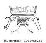 hand drawn vector doodle... | Shutterstock .eps vector #1096965263
