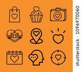 heart outline set of vector...   Shutterstock .eps vector #1096970060
