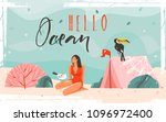 hand drawn vector background... | Shutterstock .eps vector #1096972400