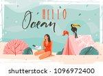 hand drawn vector background... | Shutterstock .eps vector #1096972400