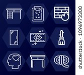 outline  set of 9 other icons... | Shutterstock .eps vector #1096973300