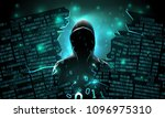 hacker using the internet... | Shutterstock .eps vector #1096975310