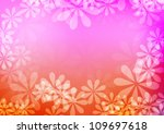 abstract vector warm floral...