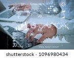 investor analyzing stock market ... | Shutterstock . vector #1096980434