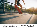 skateboarder skateboarding on... | Shutterstock . vector #1096984448