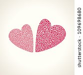 two hearts. elements for... | Shutterstock .eps vector #109698680