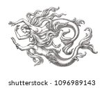 ink and pen drawing... | Shutterstock . vector #1096989143