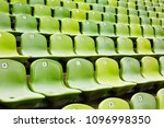 rows of green seats in a... | Shutterstock . vector #1096998350