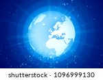 world globe in space with light ...   Shutterstock . vector #1096999130