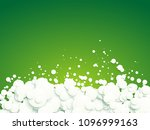 abstract white bubbles on green ... | Shutterstock .eps vector #1096999163