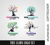 kids academy tree logo designs... | Shutterstock .eps vector #1097002409