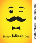 happy father s day greetings.... | Shutterstock .eps vector #1097009489