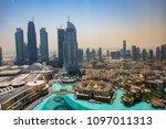 uae dubai  may 2018  view of... | Shutterstock . vector #1097011313