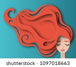 vector portrait of young... | Shutterstock .eps vector #1097018663