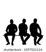 set of sitting men | Shutterstock .eps vector #1097021114