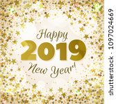 happy new year 2019 greeting... | Shutterstock .eps vector #1097024669
